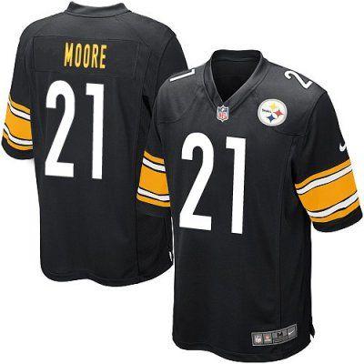65079470750 ... New Nike Steelers 21 Mewelde Moore Nike Elite Jersey Black NFL Jersey  ...