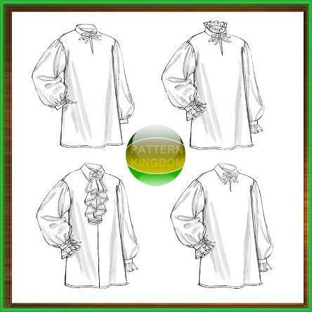 Butterick 5008 Historic Ruffled Poet Shirt / Chemise Patterns