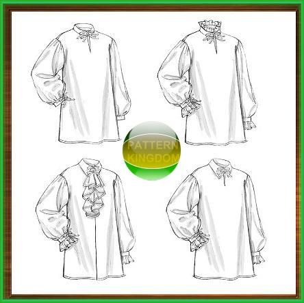Butterick 5008 Historic Ruffled Poet Shirt / Chemise Patterns