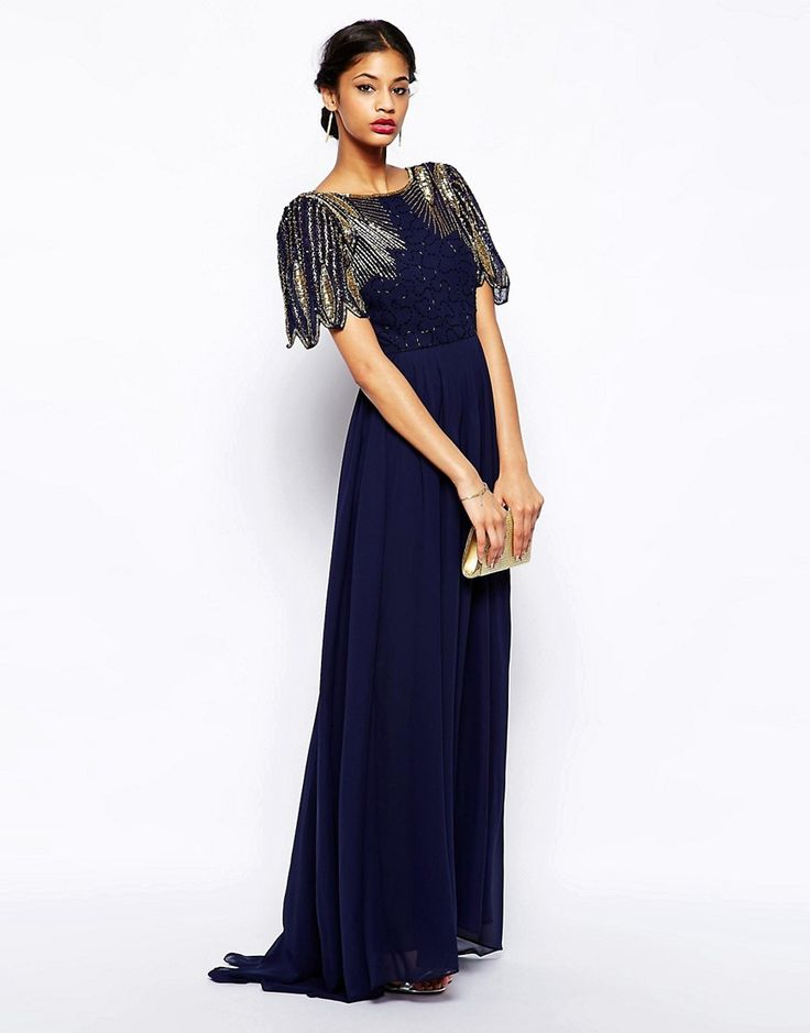 Virgos Lounge | Virgos Lounge Lena Maxi Dress With Embellishment at ASOS