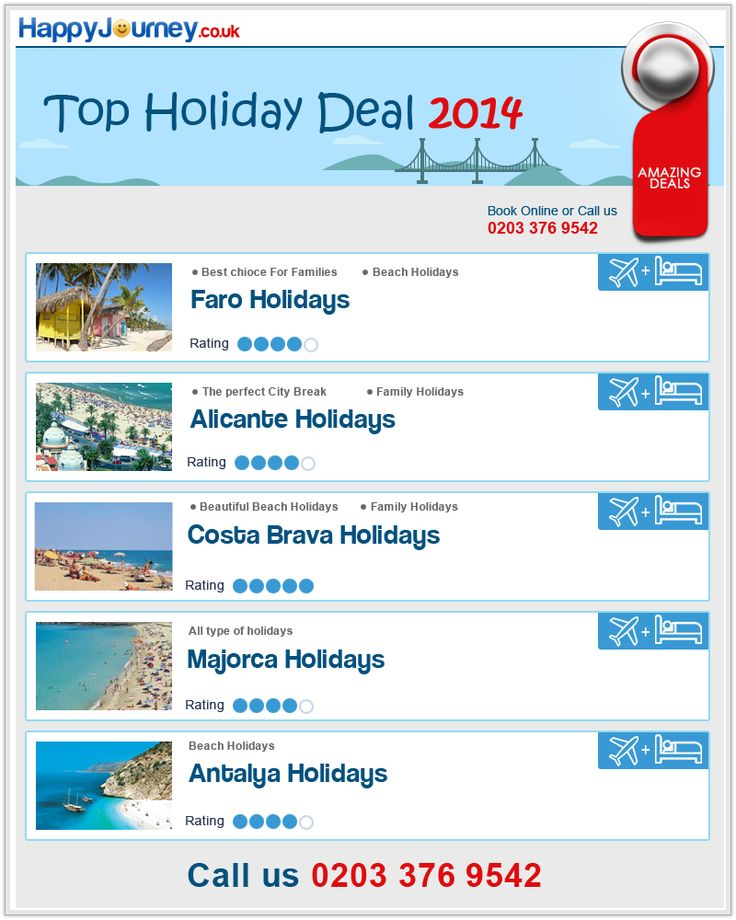Happy journey offers a wide range of cheap holidays, hotels, last minute deals, thousands of package holiday bargains, cheap flights and all inclusive