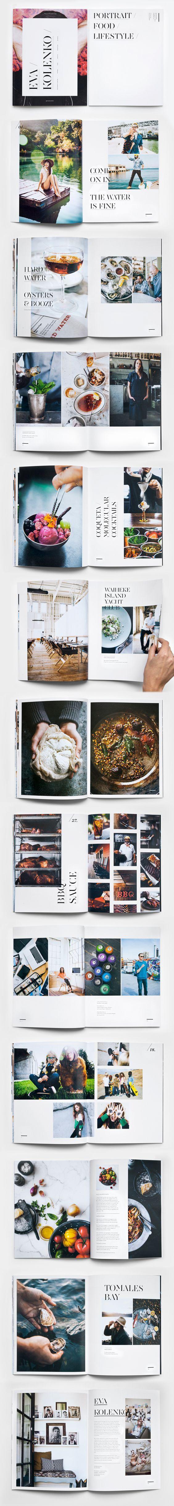 Kolenko Photography Promo Book Designed by Emma Robertson: