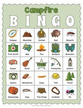 Printable Camping Bingo Game
