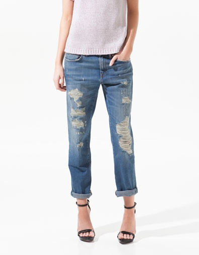 RIPPED DENIM - Collection - Woman - SALE - ZARA United States