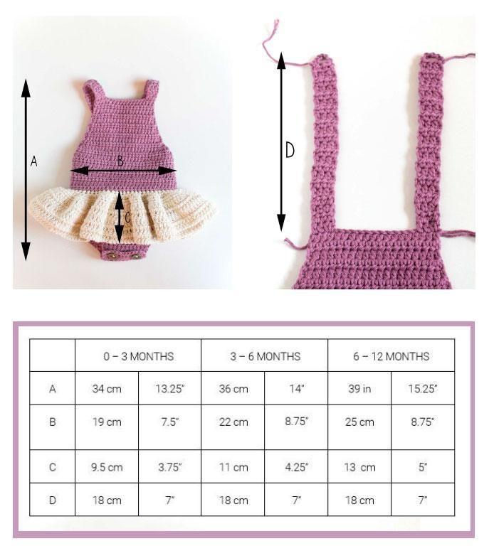 (4) Name: 'Crocheting : Crochet Baby Romper - Little Ballerina
