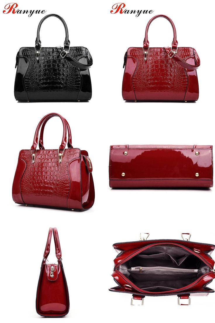 [Visit to Buy] Fashion Women's Bag Handbag PU Leather Alligator Bags Shoulder Bag Women Messenger Bags Ladies Feminina Bolsas De Marcas Famosas #Advertisement