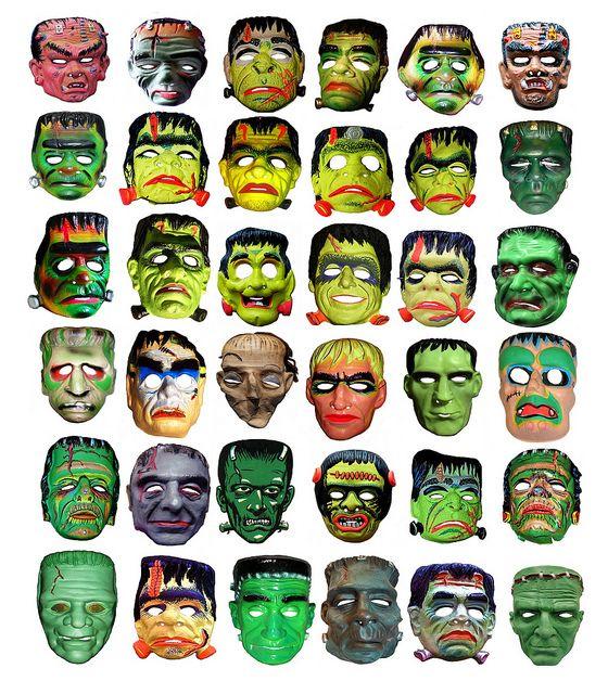36 Frankenstein Type Monster Masks 013331, via Flickr.