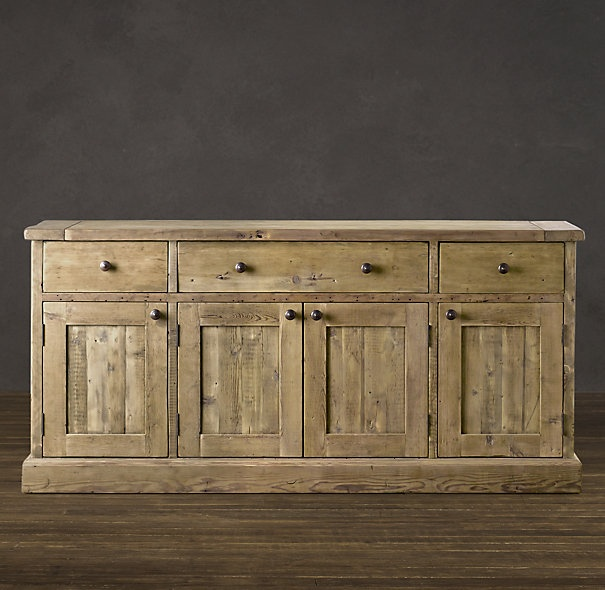 Beautiful Wood Sideboard ~ Perfect for all my serveware and linens salvaged wood
