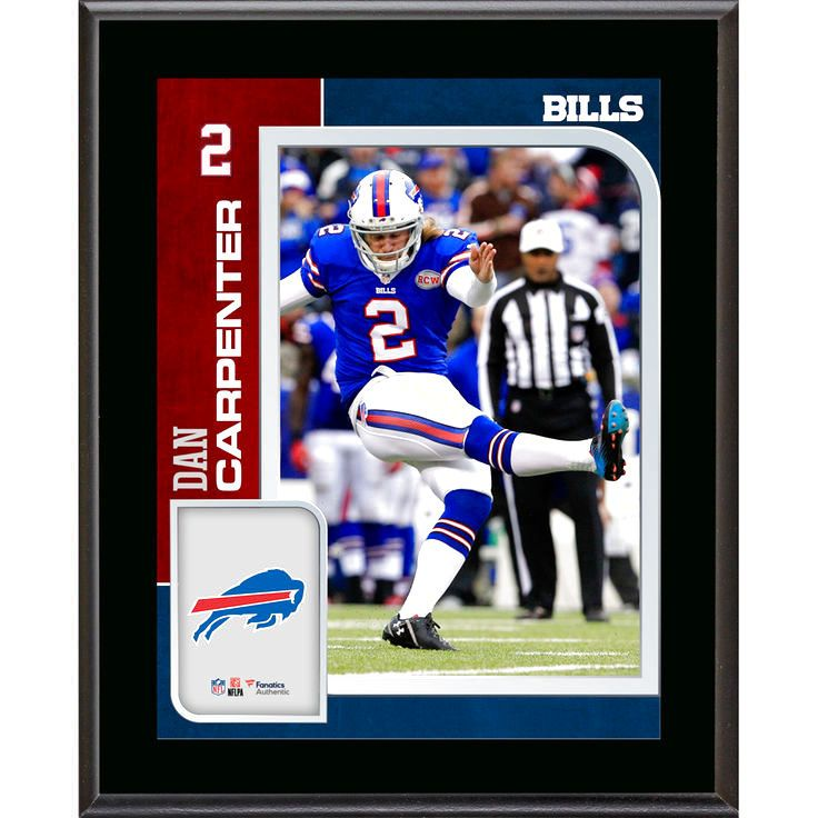 Dan Carpenter Buffalo Bills Fanatics Authentic 10.5'' x 13'' Sublimated Player Plaque - $23.99