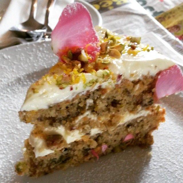#rosewaterpistachio cake! #bluecraneandbutterfly