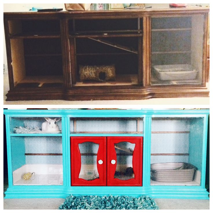Diy rabbit hutch indoor rabbit hutch repurposed dresser for Diy guinea pig hutch