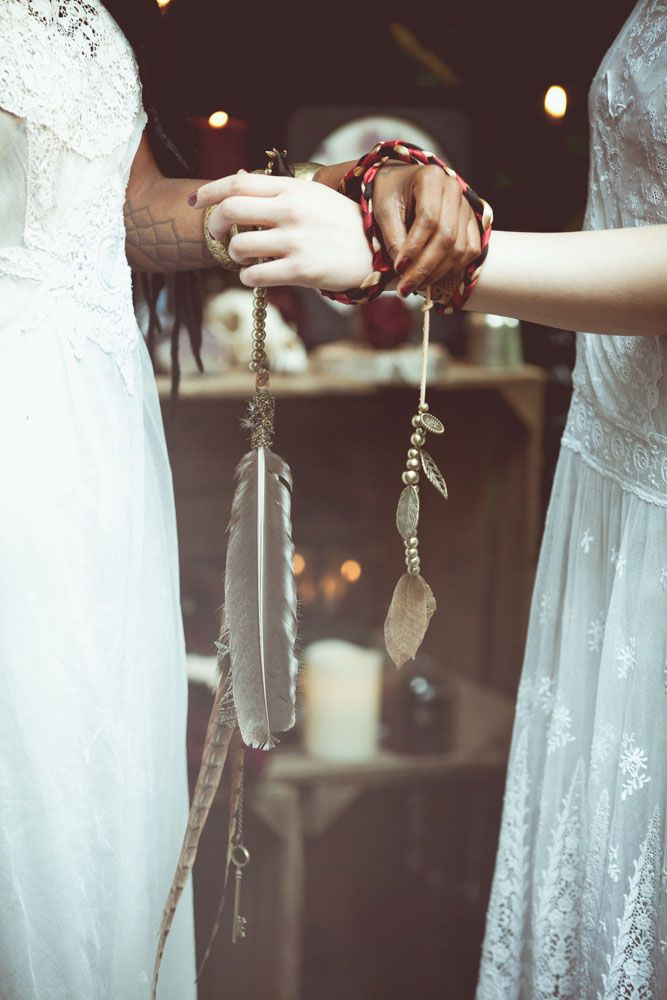 Handfasting is a beautiful element to add to woodland weddings                                                                                                                                                                                 More