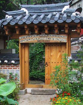 Beautifully designed Korean door...