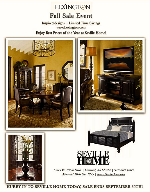 Now Is The Best Time To Buy Lexingtons Classic Furniture At Seville Home Come In