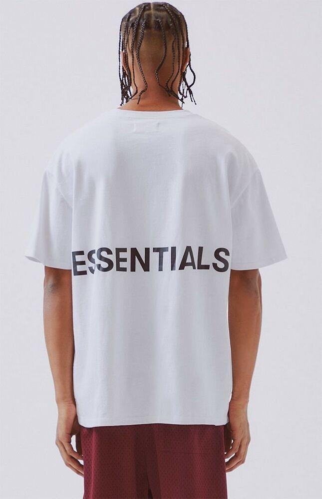 Nwt Fear Of God Fog Pacsun Essentials Boxy Graphic T Shirt White M Medium Ebay Urban Clothing Brands T Shirt Fonts Clothing Brand Logos