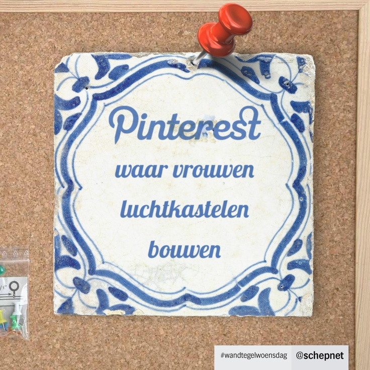 #wandtegelwoensdag #9 Pinterest