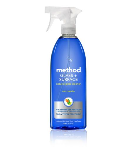 """Method glass and surface cleaner in """"mint"""".  Smells wonderful and is derived from non-toxic plant-based ingredients."""