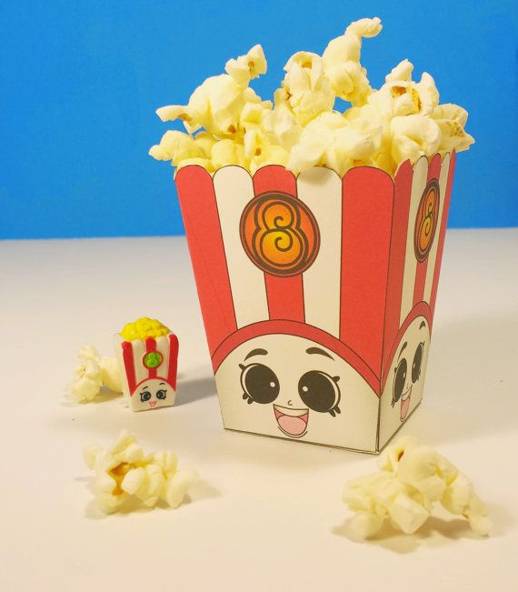 """The Original 5"""" Poppy Pop Corn Box that you may see in Google Searches or on Etsy Search is right here! Time to print, cut & glue, then add your"""