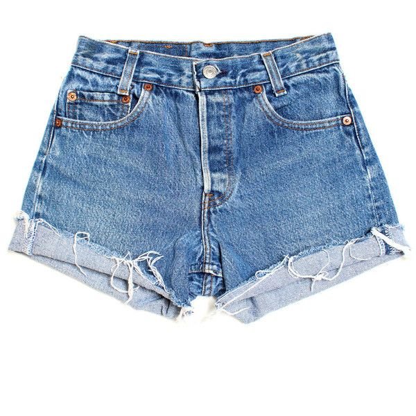 Vintage Levis 101 XXS BATOKO ($59) ❤ liked on Polyvore featuring shorts, bottoms, pants, denim shorts, high-waisted jean shorts, high waisted shorts, levi shorts, high rise shorts and jean shorts