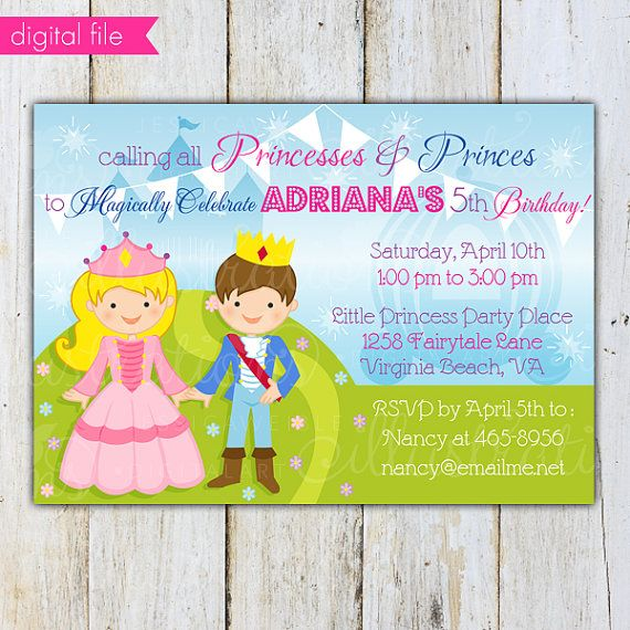 75 best images about Prince Princess Birthday Ideas – Prince Party Invitations