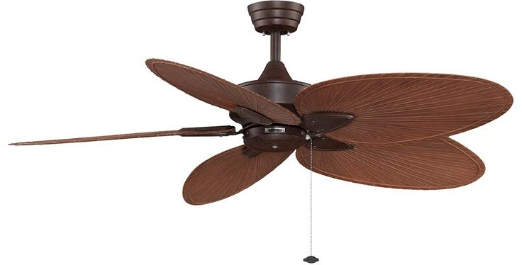 The Islander ceiling fan is one of Fanimation's classic designs that have withstood the test of time. For over thirty years, the natural elegance and versatility of this tropically inspired ceiling fan have contributed to its undiminished popularity. Picture here in Rust with Narrow All Weather Brown Blades.