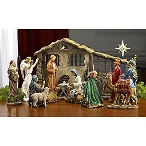 7 Inch Figures Real Life Nativity Full Complete Set Includes All People GIFT | eBay