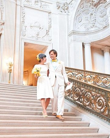 Where: San Francisco City Hall, CA. The Details: At the end of the first Indiana Jones movie, Indie and Marion are seen walking down the pink marble steps of San Francisco City Hall, a popular venue for civil ceremonies in California. Also Seen In: Dirty Harry and Milk