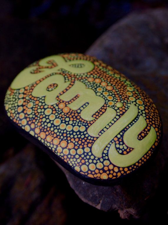 Inspirational Word Family Stone / Painted Rock / Written on Stone Series / Leslie Peery