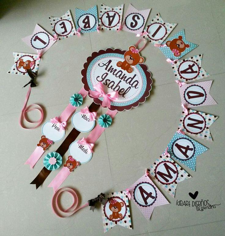 Kit nacimiento, cartel de bienvenida, cartel de nacimiento, baby door hanger