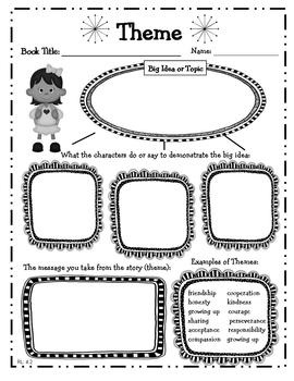 4th Grade Reading Literature Graphic Organizers for Common Core