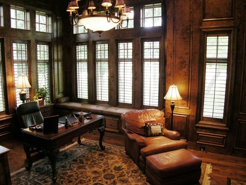 Traditional home office leather design pictures remodel decor and ideas page 4