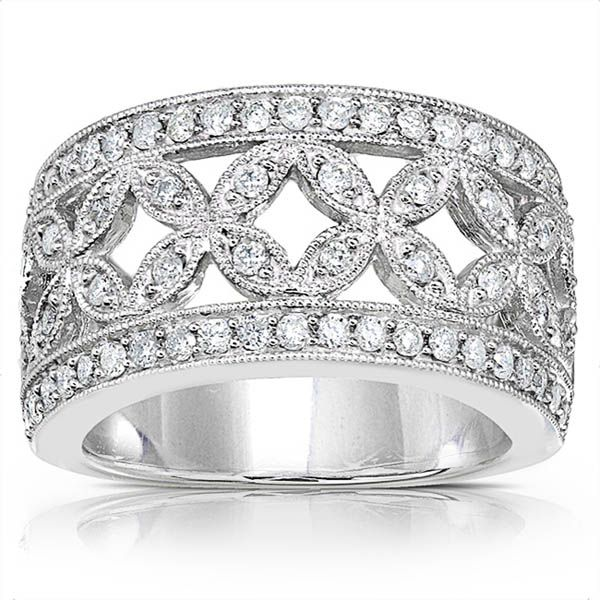 Beautiful Diamond Bands: Wide Band Diamond Wedding Rings For Women