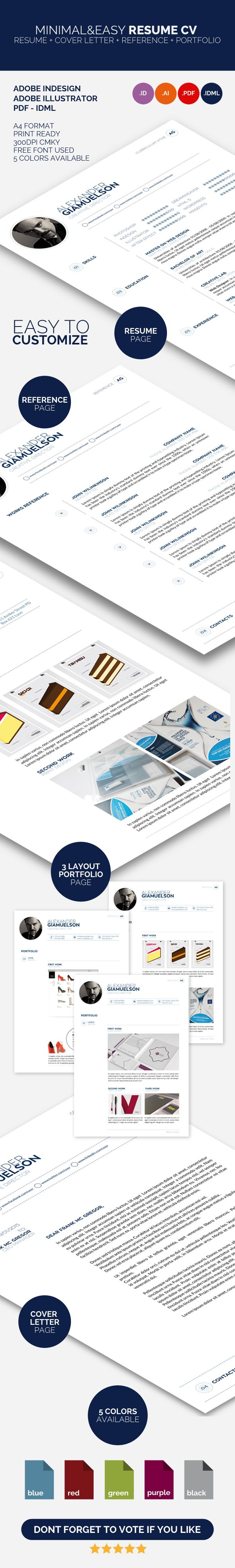 Minimal&Easy Resume Cv is a my new version of professional cv and resume template.