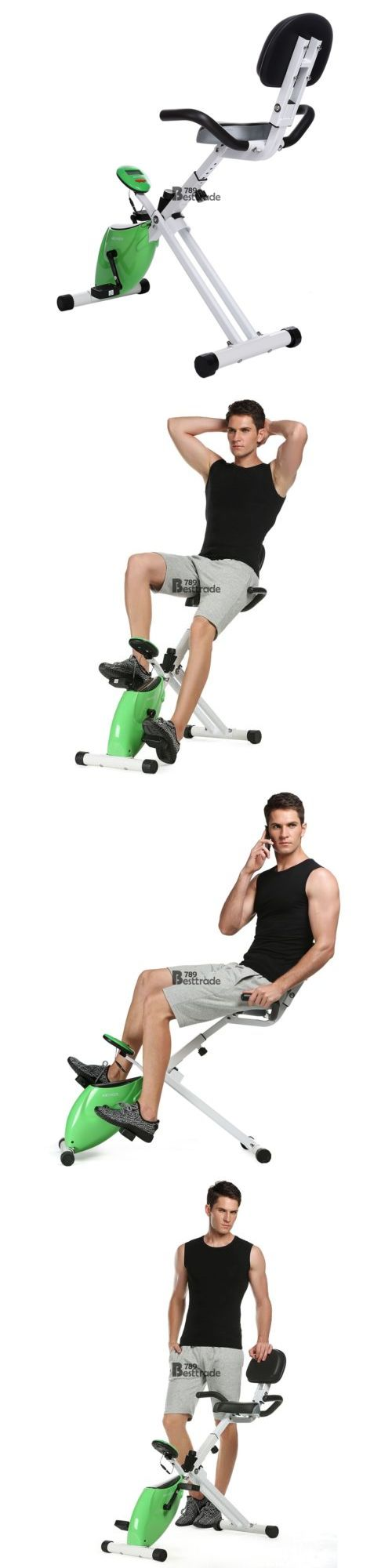Stair Machines and Steppers 28062: New Folding Exercise Bike Magnetic Trainer Stationary Upright Bike 220Lbs Bt7e01 -> BUY IT NOW ONLY: $115.87 on eBay!