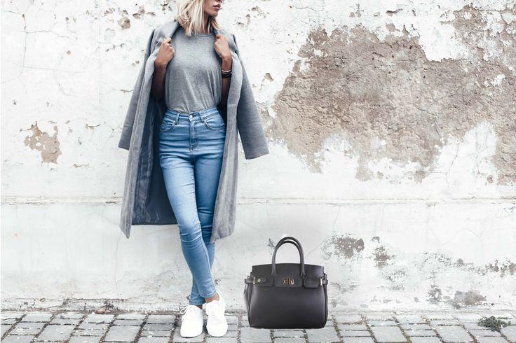 italská prostorná kožená kabelka Kateřina, která se hodí ať už do práce nebo do společnosti, čeká již dnes na vás na www.emotys.cz. #emotys #emotyscz #dnesnosim #dnesjem #kozenakabelka #verapelle # kateřina #šedábarva #black #černá #blondhair #blondíny #white #autumn