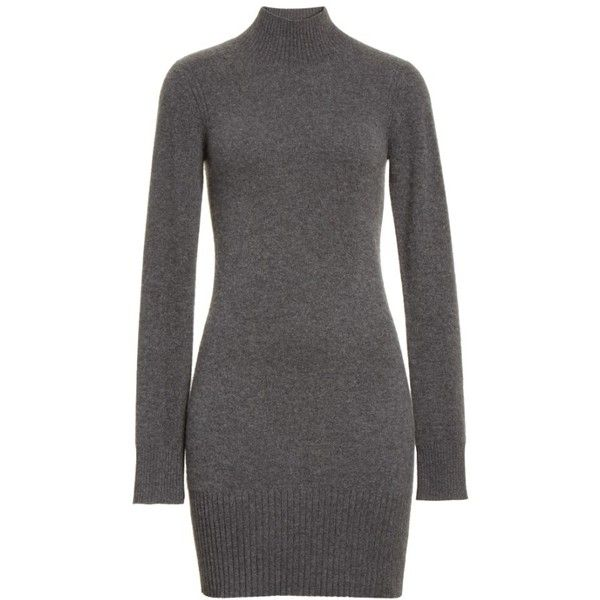 Women's Frame Turtleneck Cashmere Sweater Dress ($495) ❤ liked on Polyvore featuring dresses, turtle neck dress, turtleneck tops, cashmere sweater dress, braid dress and polo neck dress