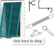 Bahama style shutter installation kit