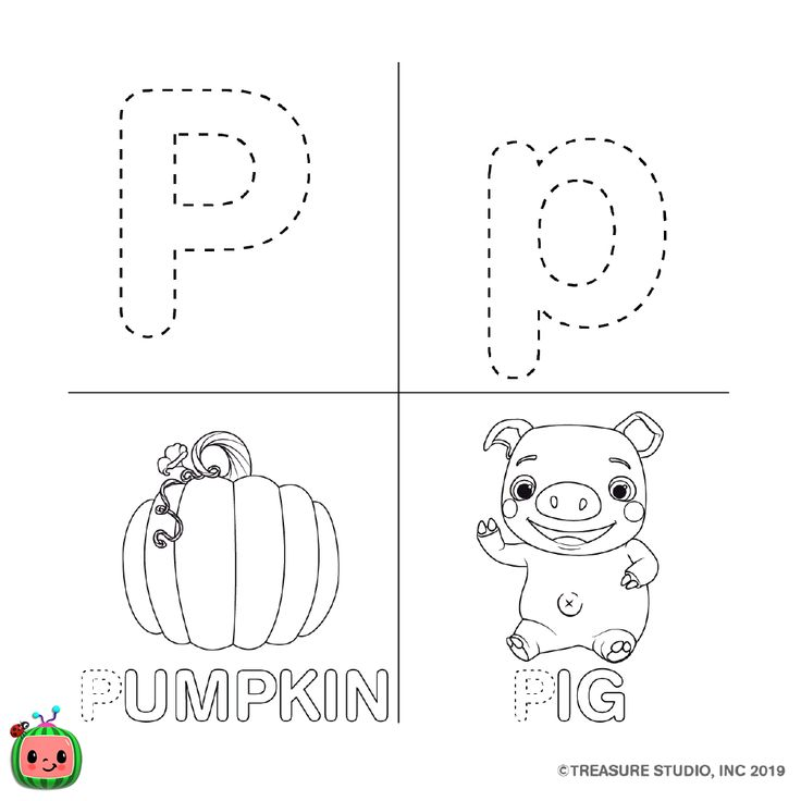 ABC Coloring Pages — cocomelon.com in 2020 | Abc coloring ...