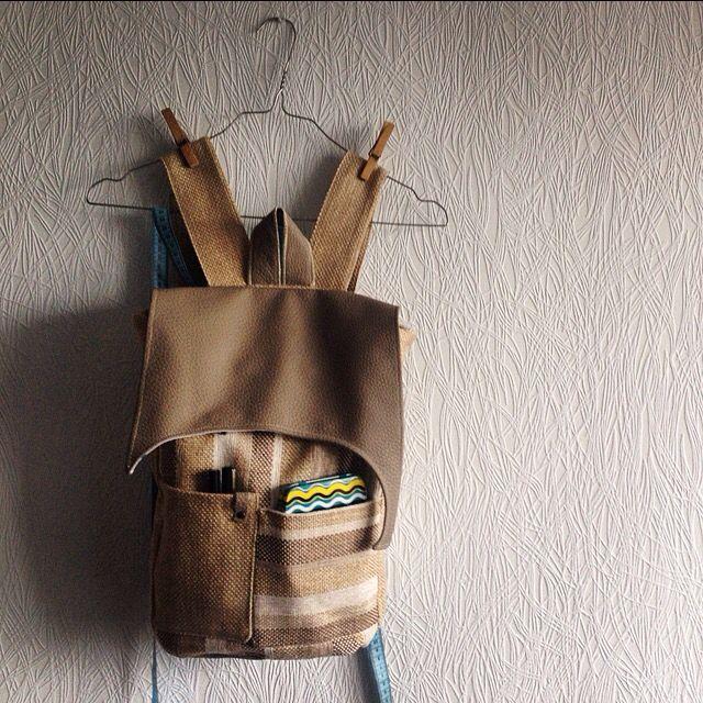 Backpack sewing design details