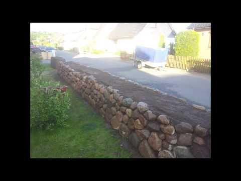 Friesenwall / Trockenmauer bauen   Entstehung eines Friesenwalls - Friesenwall Timmann - YouTube