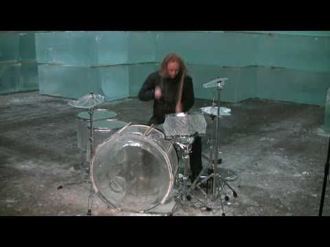 Hellacopters drummer trashes ice drum set - Part 1/2 - YouTube