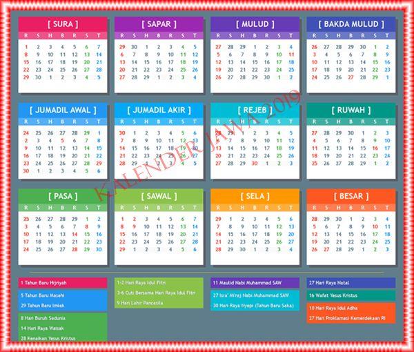 Kalender Jawa 2019 Lengkap Hari Pasaran, Weton dan Wuku ...