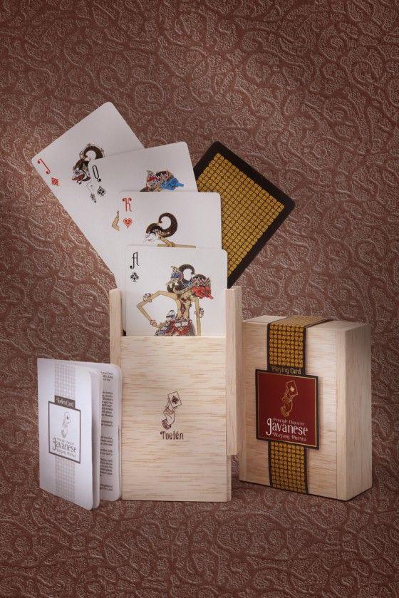 A box set of playing card. Wayang series.