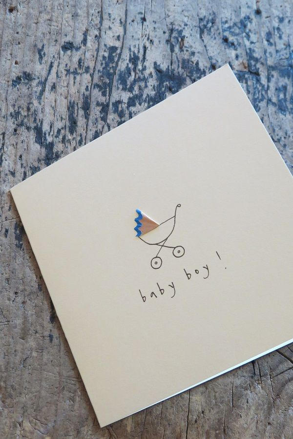 Pencil shavings #baby #boy #card #paper #stationery available in-store or via telephone on 01614382500 £2.99
