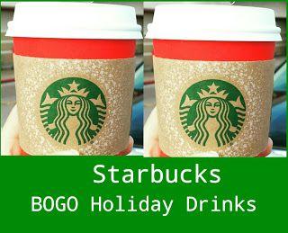 Melissa's Coupon Bargains: Starbucks BOGO Free Holiday Drinks!