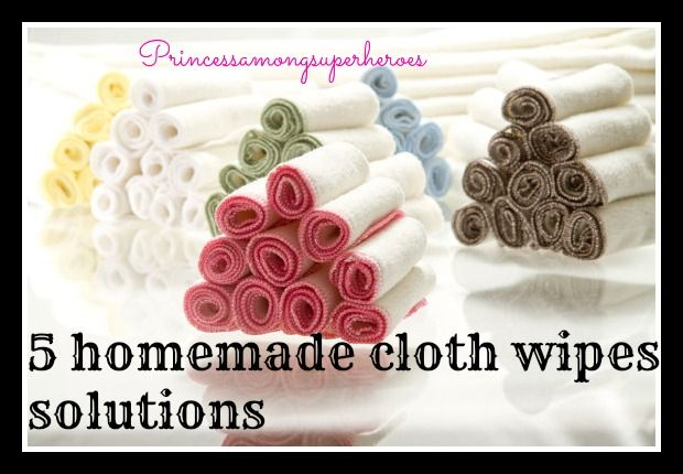 Want to try cloth wipes? Here are quick and natural cloth wipe solutions you can make at home.
