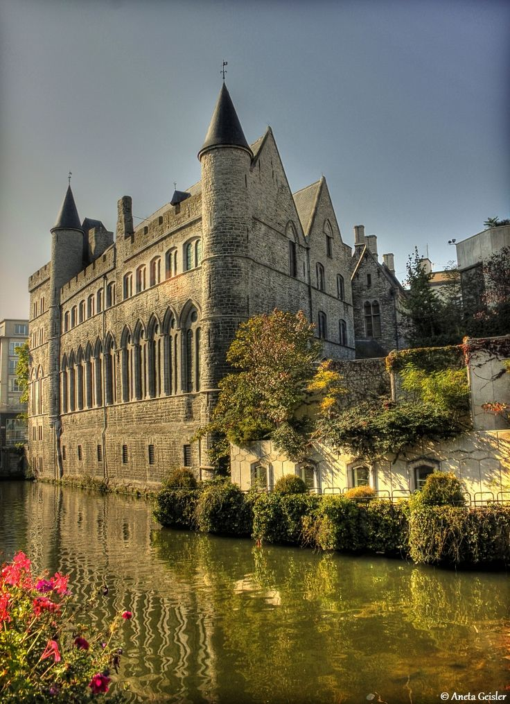 The Castle of Gerald the Devil was built in the 13th century in Ghent, Belgium. According to legend, Gerard married five times, each time killing his wife to marry another one. Over the centuries, the castle has been used as a monastery, school, prison, orphanage, and insane asylum. by Aneta Geisler