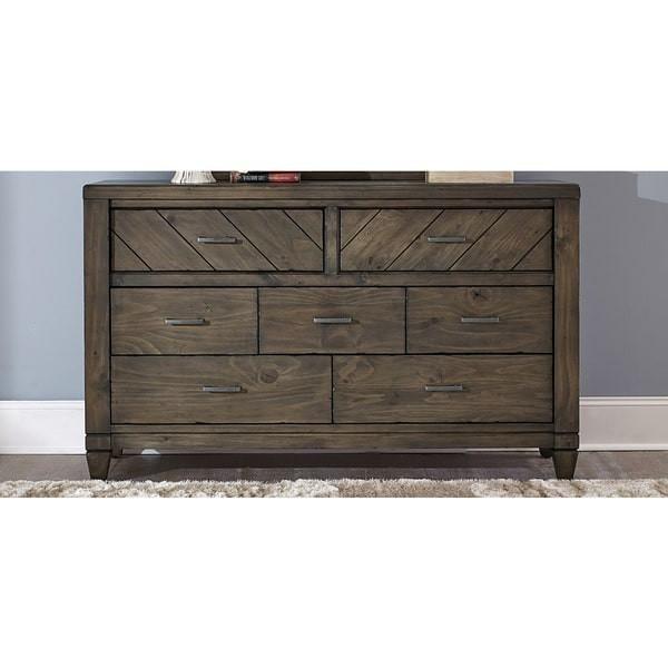 Liberty Furniture Modern Country Harvest Brown 7-Drawer Dresser - 833-BR31