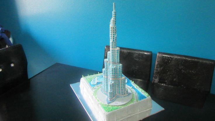 Burj khalifa Dubai Cake - tallest building in the world