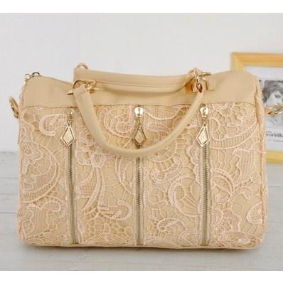 Vintage Style Laced Leatherette Handbag at chemjoy.com